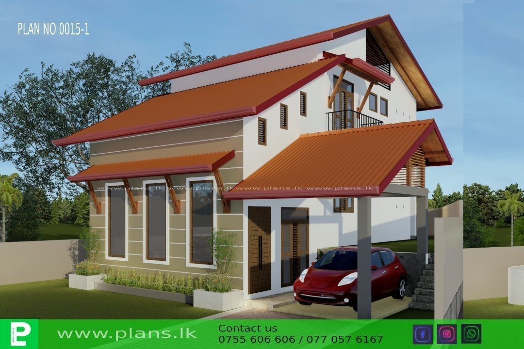 Plan 0015 1 Plans Lk Home Plans Sri Lanka